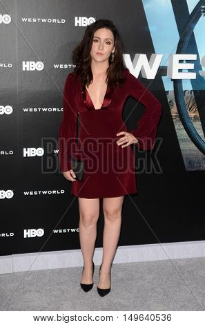 LOS ANGELES - SEP 28:  Shannon Woodward at the HBO's