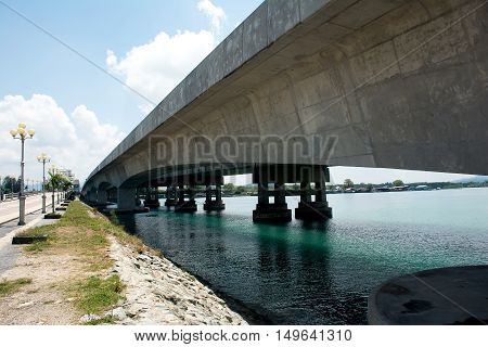 Sarasin bridge linked Phuket Island to the mainland of Phang Nga Province.Phuket Thailand