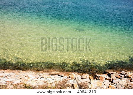 The blue sea in Andaman ocean ,Phuket,Thailand