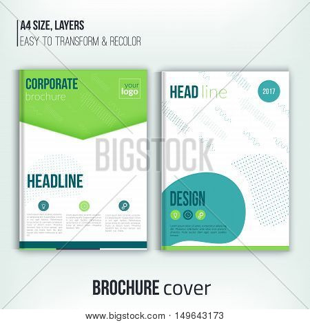 Vector brochure cover design templates with abstract geometric triangular connection backgrounds for your business