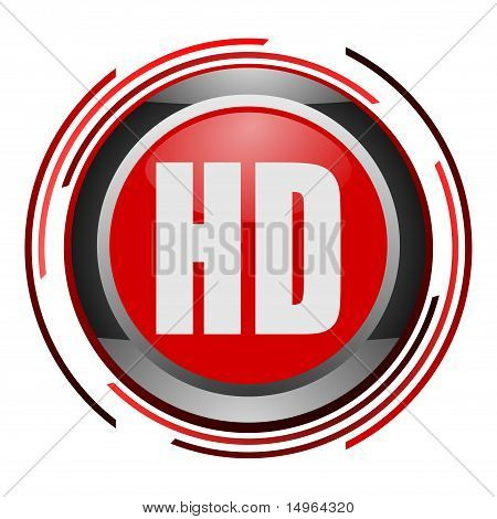hd display glossy icon
