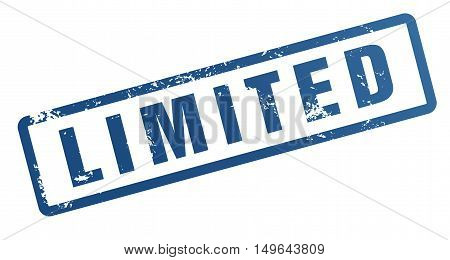 limited rubber stamp illustration isolated on white background
