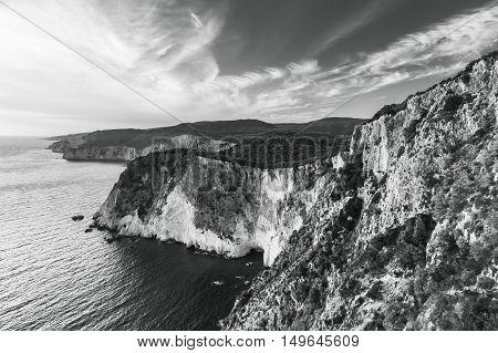Black And White Landscape Of Cape Keri