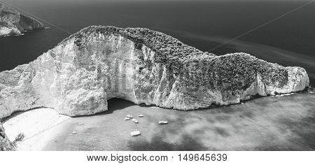 Monochrome Landscape Photo Of Navagio