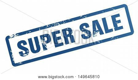 super sale rubber stamp illustration isolated on white background