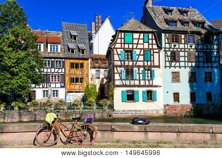 Romantic canals of Strasbourg -