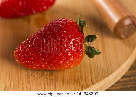 Strawberry, Fresh Strawberry, Ripe Strawberry, Healthy Strawberry, Strawberry On Wooden Background