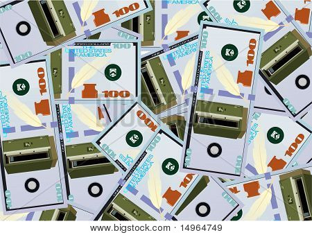 The background of the banknote