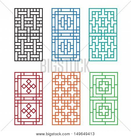 Chinese ornament for door window wall and fence vector
