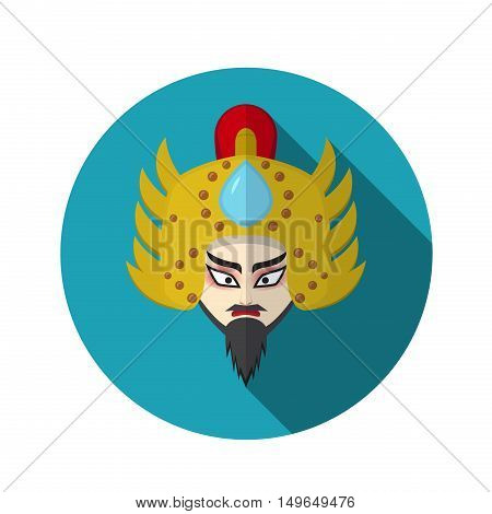 Chinese opera icon warrior and knight symbol vector