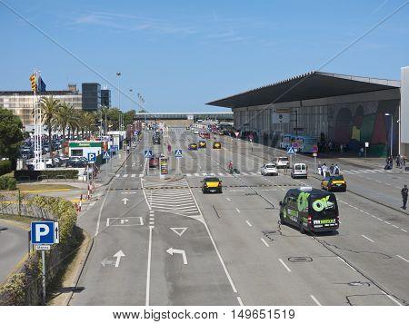 Terminal T1 Of El Prat-barcelona Airport. Spain