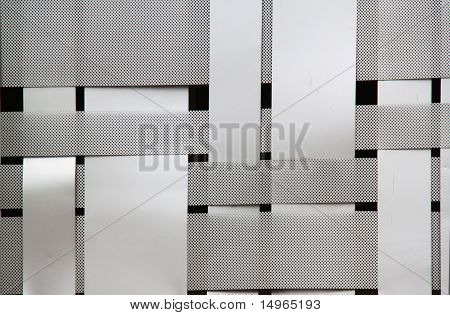 Woven Metal Pattern On Black Background