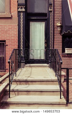 Brownstone Entrance In Hoboken