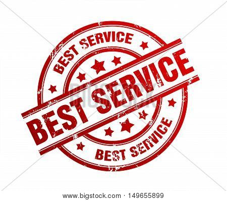 best service rubber stamp illustration isolated on white background