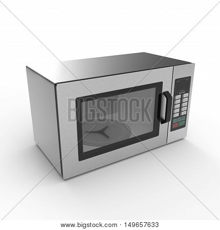 Digital microwave on an white background. 3D illustration