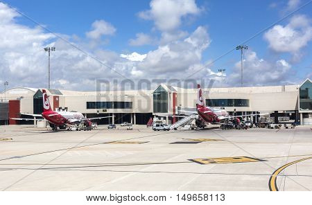 Airport Departure Tarmac In Palma De Mallorca