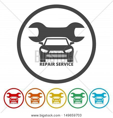 Repair tool sign icon. Service symbol set on white
