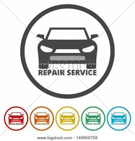 Repair tool sign icon. Service symbol set on white background