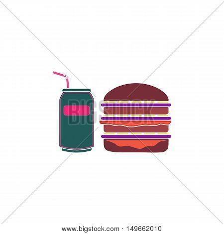 Burger soda Icon Vector. Flat simple color pictogram