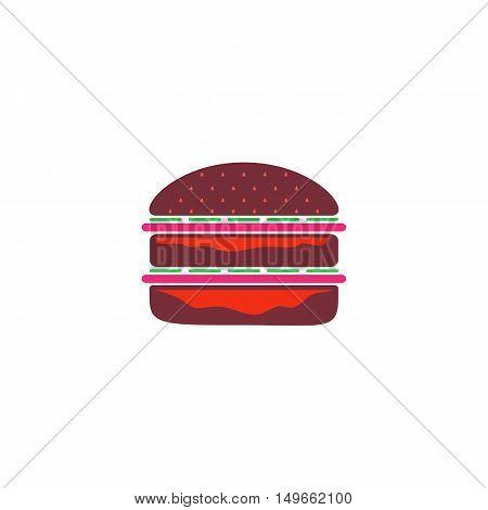 Sandwich Icon Vector. Flat simple color pictogram