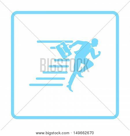 Accelerating Businessman Icon