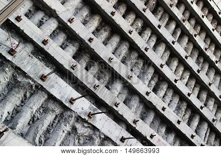 A construction site retaining wall - Construction foundation