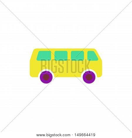 Minibus Icon Vector. Flat simple color pictogram