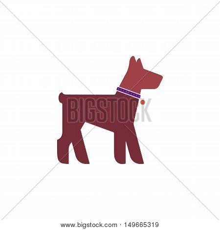 Puppy Icon Vector. Flat simple color pictogram