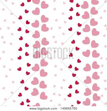 Seamless Pattern with Heart Bands on the White Background. Pattern for Fabric, Paper Print, Web Usage. Vector EPS 10