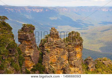 Three Sisters rocks in Blue Mountain, Australia