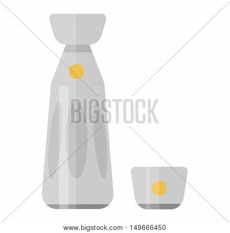 Alcohol drink bottle isolated on white background