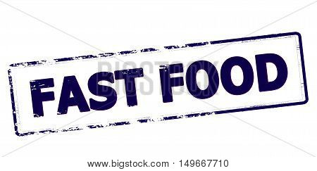 Rubber stamp with text fast food inside vector illustration