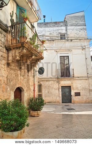 Perspective of an alleyway of Rutigliano. Puglia. Italy.