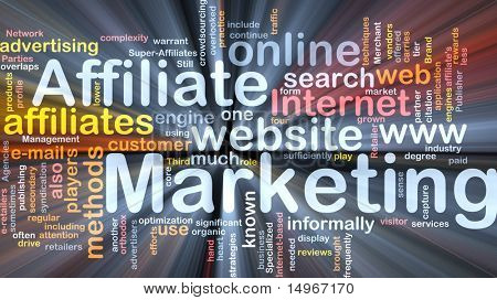 Software package box Word cloud concept illustration of affiliate marketing