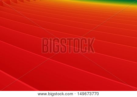Abstract Colourful Red Green Gradient Lines Background 3D Illustration