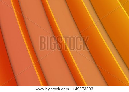 Abstract Colourful Orange Gradient Lines Background 3D Illustration