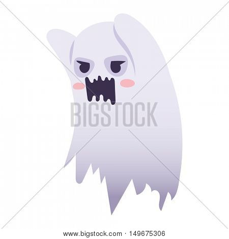 Ghost character vector isolated