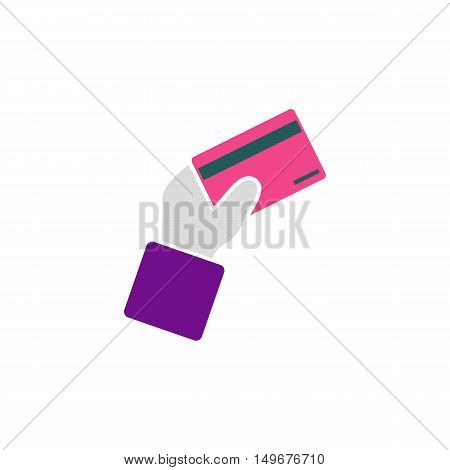 Credit card Icon Vector. Flat simple color pictogram