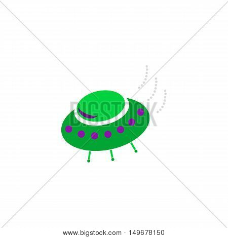UFO Icon Vector. Flat simple color pictogram