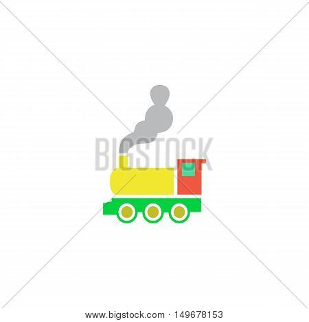 Train Icon Vector. Flat simple color pictogram