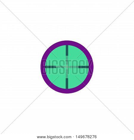 Target Icon Vector. Flat simple color pictogram