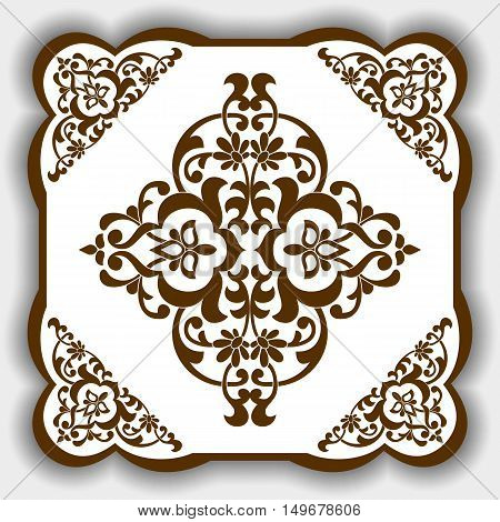 Vector pattern in East Asia style as a template for tiles backgrounds covers postcards wallpaper textiles.