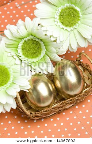 Easter golden eggs