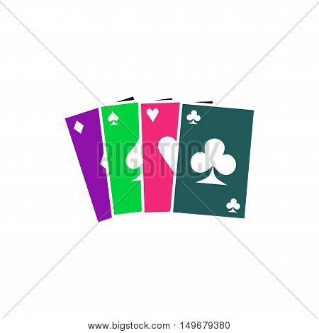 Poker Icon Vector. Flat simple color pictogram