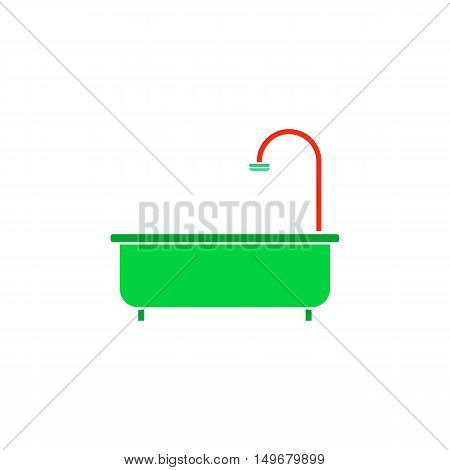 Bath Icon Vector. Flat simple color pictogram