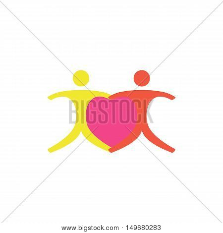 Love Icon Vector. Flat simple color pictogram