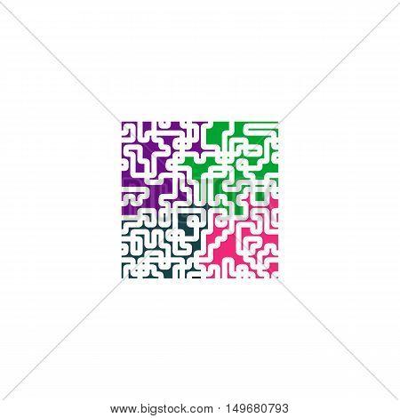 Puzzle Icon Vector. Flat simple color pictogram