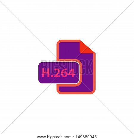 H264 Icon Vector. Flat simple color pictogram