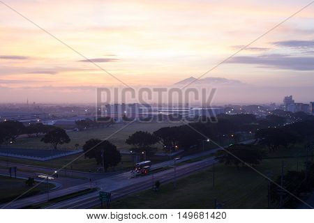 beautiful sunrise in angeles city in the Philippines
