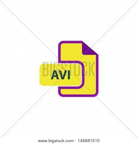 AVI Icon Vector. Flat simple color pictogram